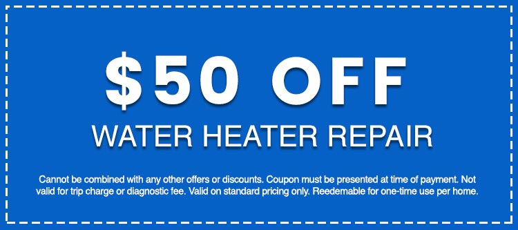 Discounts on Water Heater Repair