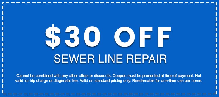 Discounts on Sewer Line Repair