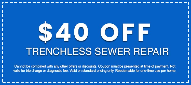 Discounts on Trenchless Sewer Repair