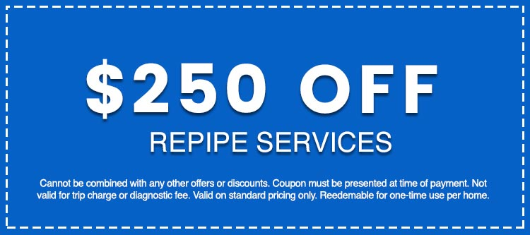 Discounts on Repipe Services