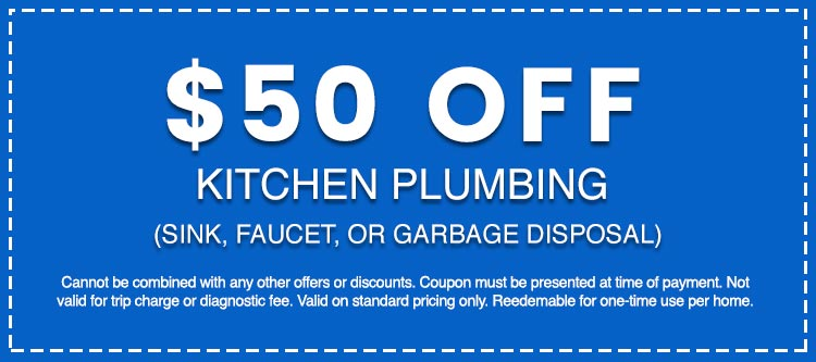 Discounts on Kitchen Plumbing (Sink, Faucet, or Garbage Disposal)