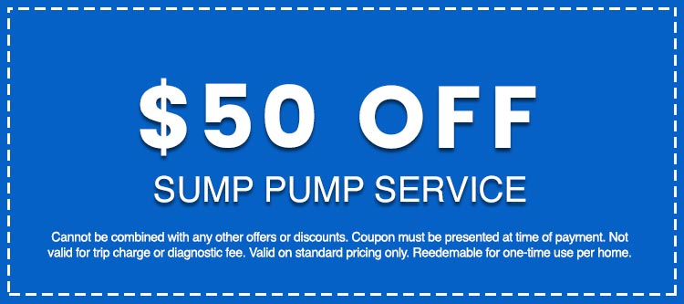Discounts on Sump Pump Service