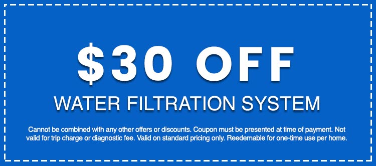 Discounts on Water Filtration System