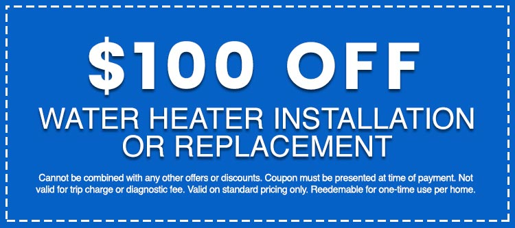 Discounts on Water Heater Installation or Replacement