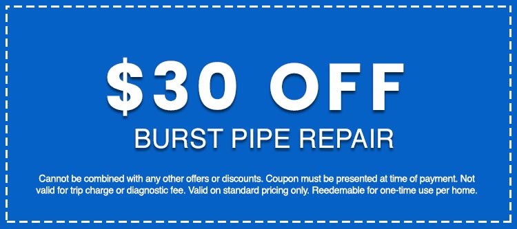 Discounts on Burst Pipe Repair