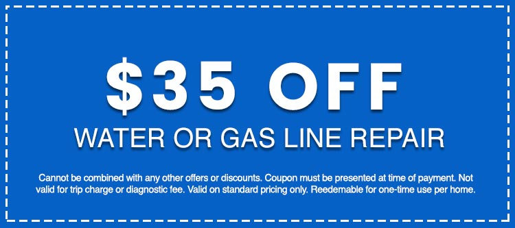 Discounts on Water or Gas Line Repair
