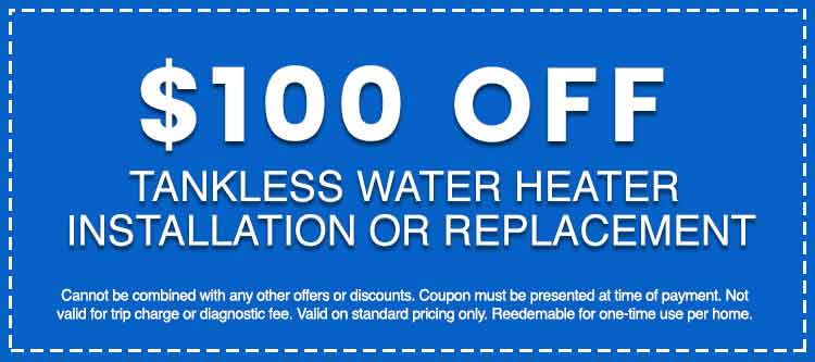 Discounts on Tankless Water Heater Installation or Replacement