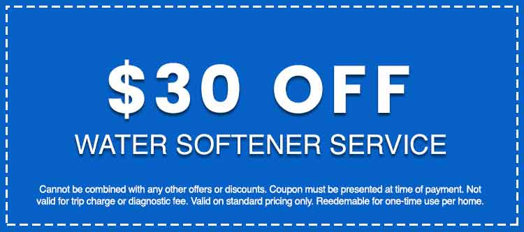 Discounts on Water Softener Service