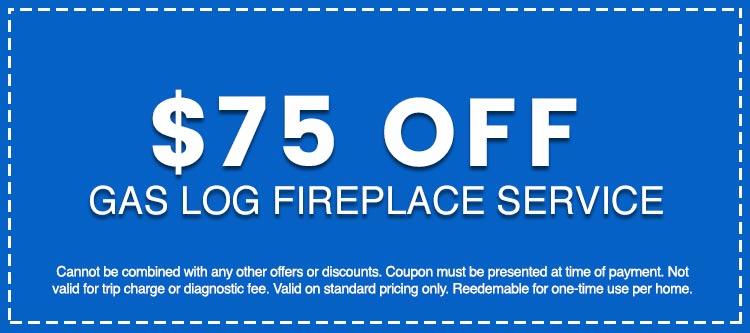 Discounts on Gas Log Fireplace Service