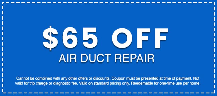 Discounts on Air Duct Repair