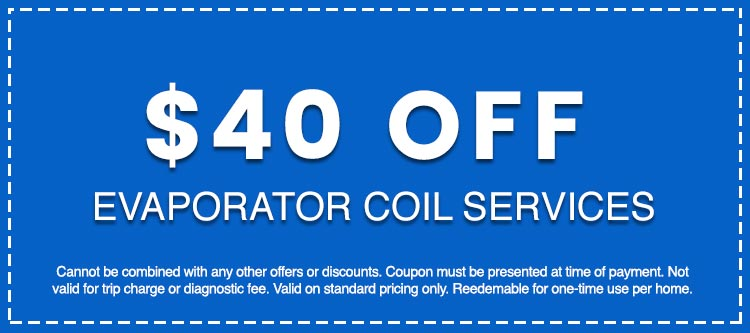 Discounts on Evaporator Coil Services